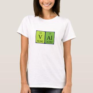 Chemise de nom de table périodique de Val T-shirt