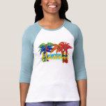 Chemise de palmier d'Hawaï des femmes T-shirt