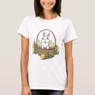 Chemise de panier de lapin de Pâques de T-shirt de