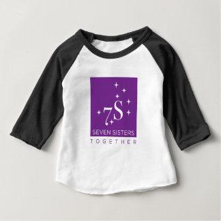 Chemise de partie de base-ball de sept enfants de t-shirt pour bébé