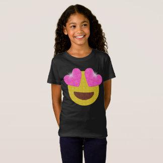 Chemise de partie d'Emoji - le coeur de T-Shirt