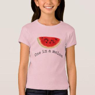 Chemise de pastèque d'été dans melon de la fille t-shirt