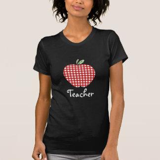 Chemise de professeur - guingan rouge Apple T-shirt