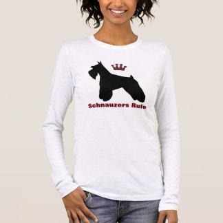 Chemise de règle de Schnauzers T-shirt À Manches Longues