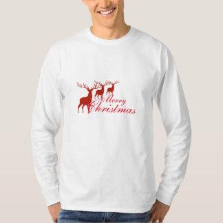Chemise de renne du Joyeux Noël des hommes T-shirt