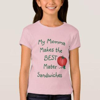 Chemise de sandwich à la mère des filles de MJWC T-shirt