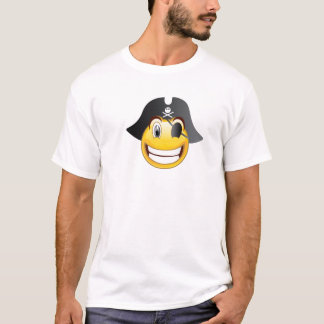 Chemise de smiley de pirate t-shirt