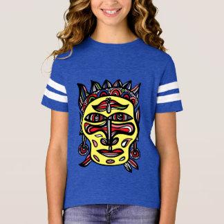 """Chemise de sports des filles """"de masque primitif"""" t-shirt"""