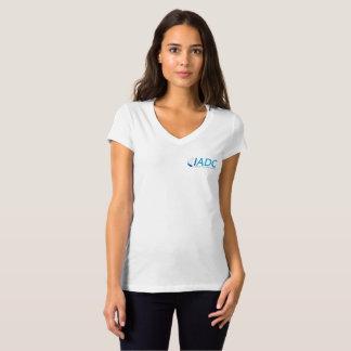 Chemise de V-Cou du coton des femmes d'IADC - T-shirt