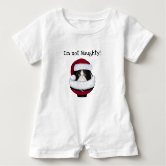 Chemise de vacances de barboteuse de bébé de chat