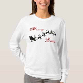 Chemise de vacances de Sleigh de Père Noël T-shirt