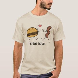 """Chemise de """"véritable amour"""" de cheeseburger et de t-shirt"""