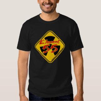 Chemise de visite de l'élément 55's - avant et dos t-shirts