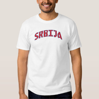Chemise de wordmark de la Serbie T-shirts