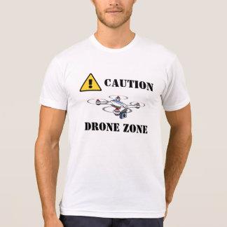 Chemise de zone de bourdon de précaution t-shirt