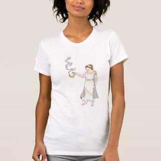 Chemise décontractée de scoop de psyché de t-shirt