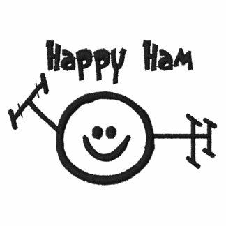 Chemise d'emblème brodée par jambon heureux
