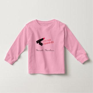 Chemise d'enfant en bas âge de commando de rouge à t-shirts