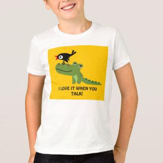 Chemise d'enfants de crocodile et de corneille t-shirt