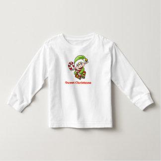 Chemise douce de bébé d'Elf de Noël T-shirt Pour Les Tous Petits
