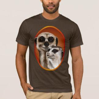 Chemise d'ovale de deux Meerkat T-shirt