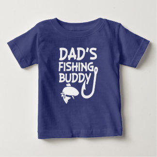 Chemise drôle de bébé d'ami de la pêche du papa t-shirt pour bébé