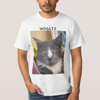 Chemise drôle de chat t-shirt
