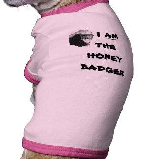 Chemise drôle de chien de blaireau de miel t-shirt ringer pour chien