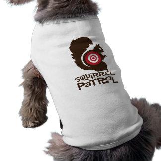 Chemise drôle de chien de patrouille d'écureuil en t-shirt pour chien