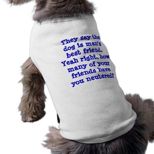 Chemise drôle de chien manteaux pour toutous