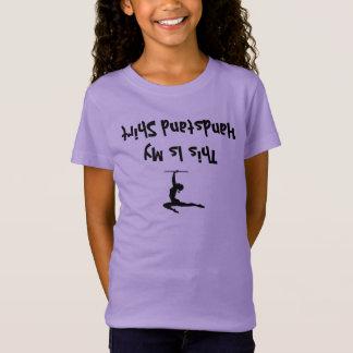 Chemise drôle de fille de gymnastique pour les T-Shirt