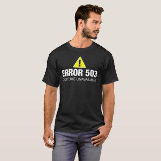 Chemise drôle de Halloween d'erreur pour des T-shirt