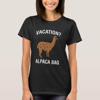 Chemise drôle de lama de sac d'alpaga de vacances t-shirt