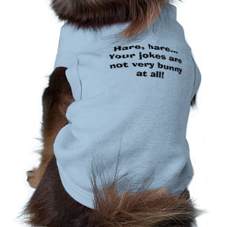 Chemise drôle de lapin t-shirt pour chien