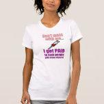 Chemise drôle de l'infirmière des femmes t-shirts