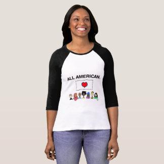 Chemise du base-ball de toutes les femmes t-shirt