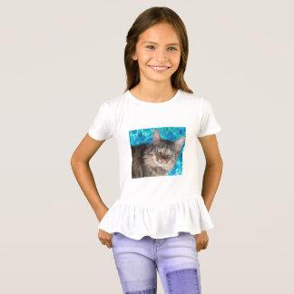 Chemise du chat des filles t-shirt
