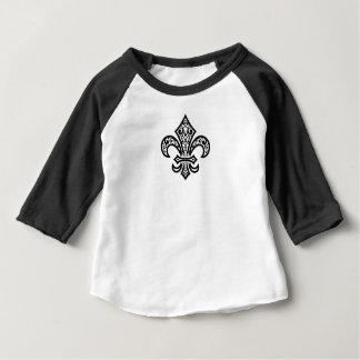 Chemise du Jersey de douille de bébé™ de Fleur de T-shirt Pour Bébé