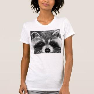 Chemise du raton laveur des femmes t-shirt