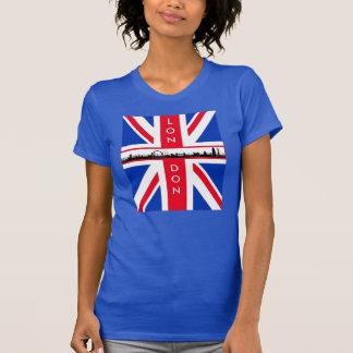 Chemise d'Union Jack d'horizon de Londres T-shirt
