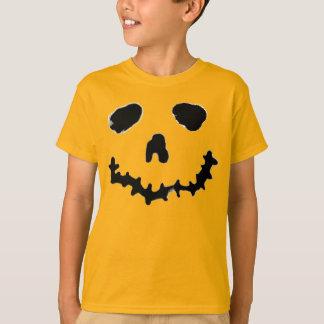 Chemise éffrayante de visage de citrouille de t-shirt