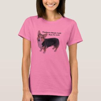 Chemise émouvante de dames de corgi de Gallois de T-shirt