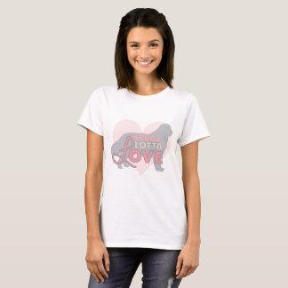 Chemise entière de chien de Terre-Neuve d'amour de T-shirt