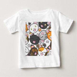 Chemise et combinaison de bébé de minous de Kawaii T-shirt Pour Bébé