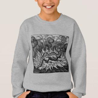 Chemise étrange de salamandre de créatures sweatshirt
