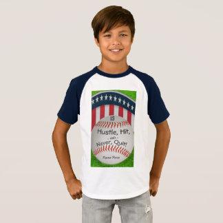 Chemise faite sur commande de base-ball avec le t-shirt