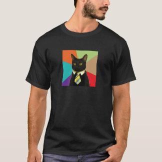 Chemise faite sur commande de chat d'affaires t-shirt