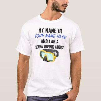 Chemise faite sur commande d'intoxiqué de plongée t-shirt