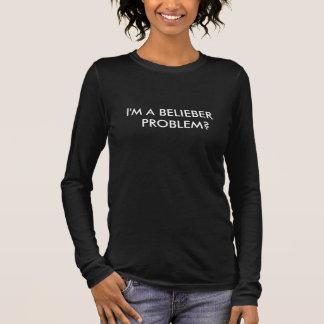 Chemise Féminine I'm à Belieber Problem T-shirt À Manches Longues