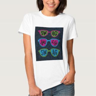 chemise féminine lunettes swag t-shirt